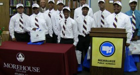 Photos: MPS, Morehouse partnership nets $800,000 in scholarships, sends largest-ever Wis. class to the college