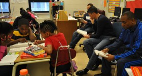 Photos: NBA referees read with MPS' Clarke Street School students as part of Scholastic and the NBRA's 'TIME OUT for Reading'